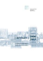 Ausgabe Jahr 2006 - Fachhochschule Mainz