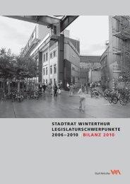 bilanz 2010 - Portal Winterthur