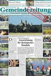 e.on bayern umweltpreis 2006 - Bayerische Gemeindezeitung
