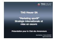 TAG Heuer SA ''Marketing sportif'' Stratégie ... - iMediaLive