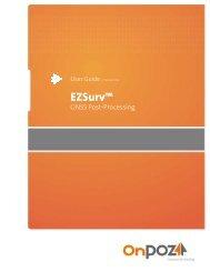 EZSurv - User Guide