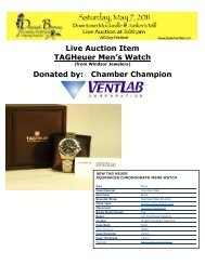 Live Auction Item TAGHeuer Men's Watch - Davie County Chamber ...