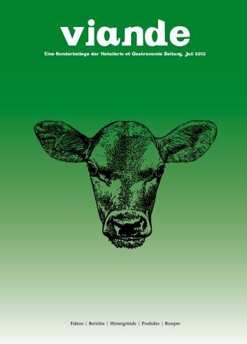 eine Sonderbeilage der Hotellerie et Gastronomie Zeitung, Juli 2012