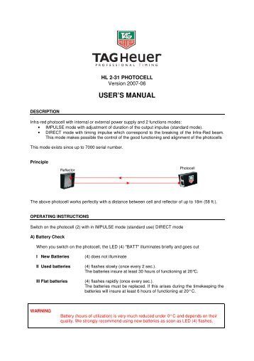 Tag Heuer Aquaracer Manual Ebook