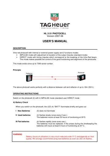 Tag Heuer Aquaracer Manual Ebook