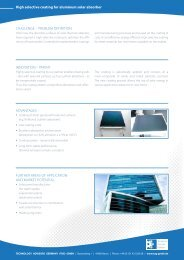 High selective coating for aluminum solar absorber (PDF