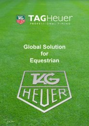 Equestrian - TAG Heuer Timing Systems