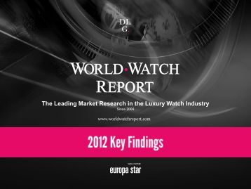 The Leading Market Research in the Luxury Watch Industry - PRWeb