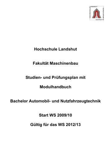 Modulhandbuch 4. Studienabschnitt - Fachhochschule Landshut