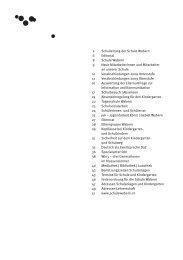 2 Schulleitung der Schule Wabern 6 Editorial 8 ... - Schulen Wabern