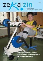 zekazin 1/2009 - zeka, Zentren körperbehinderte Aargau