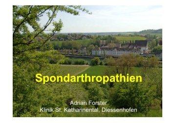 Spondarthropathien Tessin