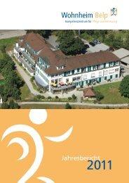 Jahresbericht 2011 - beim Wohnheim Belp