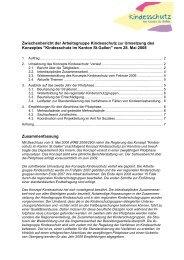 Zwischenbericht der Arbeitsgruppe Kindesschutz - Amt für Soziales ...