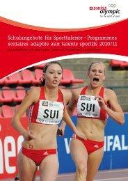 Programmes scolaires adaptés aux talents sportifs ... - Swiss Olympic
