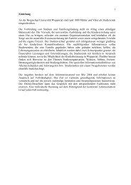 Studieren mit Kind Inhalt Endfassung1 - Bergische Universität ...