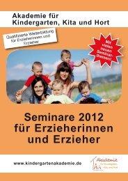 Seminare 2012 für Erzieherinnen und Erzieher - Akademie für ...