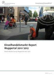 Einzelhandelsreport 2011/2012 - Stadt Wuppertal