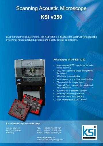 Scanning Acoustic Microscope KSI v350 - Electron Mec