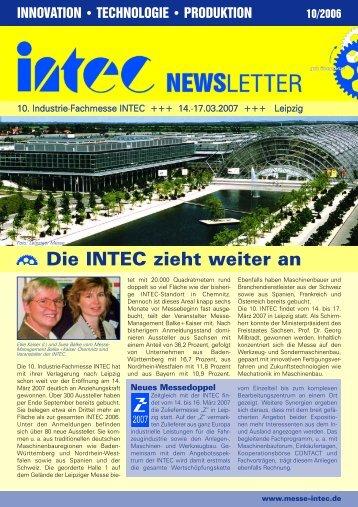 Newsletter zur INTEC 2007 als PDF-Datei