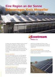 Eine Region an der Sonne Solaranlagen Kreis Ahrweiler