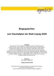Bürgergutachten zum Haushaltplan der Stadt Leipzig 2006 - Forum ...