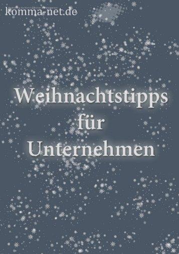 Weihnachten im Unternehmen - Komma-Net.de