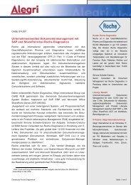 Unternehmensweites Dokumenten Management mit ... - bei Alegri