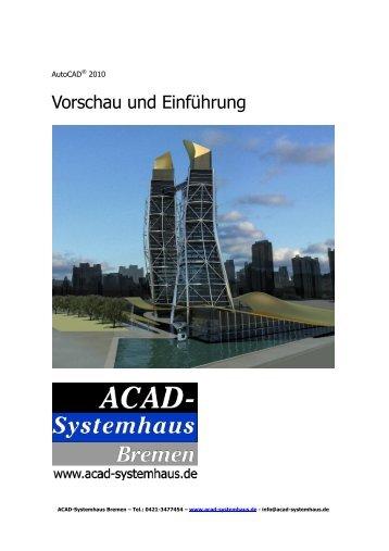 autocad 2010 œ vorschau und einführung - ACAD-Systemhaus ...