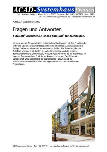 AutoCAD® Architecture 2010 Fragen und Antworten - ACAD ...