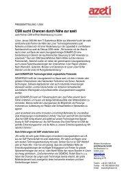 CSM sucht Chancen durch Nähe zur azeti - azeti Networks AG