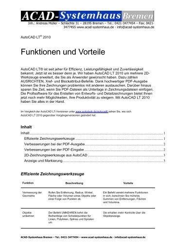 Funktionen und Vorteile - ACAD-Systemhaus Bremen