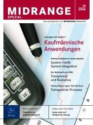 Midrange Spezial 10-2006 - Kaufmännische Anwendungen