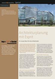 Architekturplanung mit Esprit - ACAD-Systemhaus Bremen