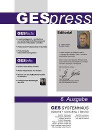 GESPress Nr.6 2009 - GES Systemhaus GmbH
