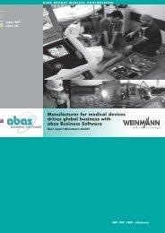 Success Story Weinmann - ABAS Software AG