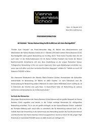 PRESSEINFORMATION Ali Rahimi - Vienna Business School