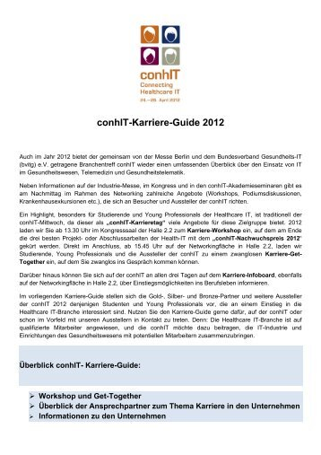 conhIT-Karriere-Guide 2012