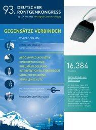 gegensätze verbinden - Deutscher Röntgenkongress · Willkommen