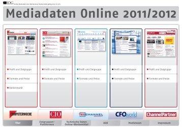Mediadaten Online 2011/2012