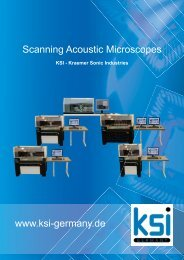 Scanning Acoustic Microscopes www.ksi-germany.de - Electron Mec