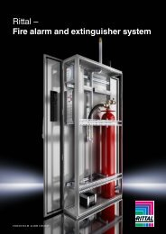 Rittal - Fire alarm and extinguisher system