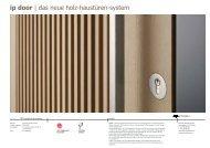 ip door | das neue holz-haustüren-system - Cp-architektur.com