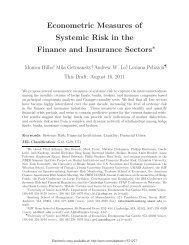 Econometric Measures of Systemic Risk in the Finance and ...