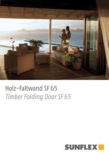 Holz-Faltwand SF 65 - Sunshine Door Systems