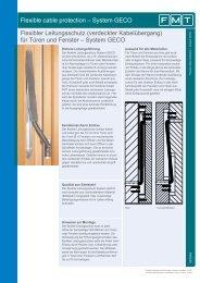 Flexible cable protection – System GECO Flexibler ... - FMT-Shop