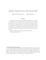 Bubbles, Financial Crises, and Systemic Risk - Columbia Business ...
