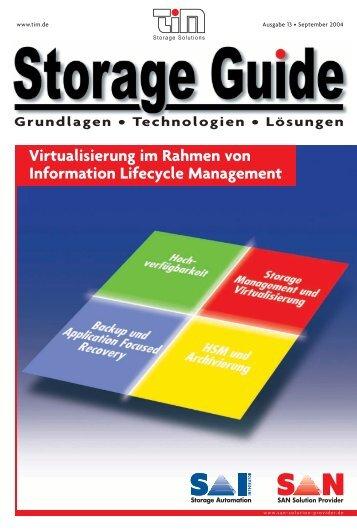 Virtualisierung im Rahmen von Information Lifecycle ... - TIM AG