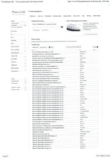 """Firmenliste: BU — Firmendatenbank von Hoppenstedt """" - Staatliche ..."""
