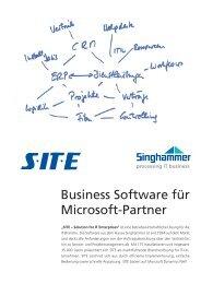 SITE für Microsoft Partner - Singhammer